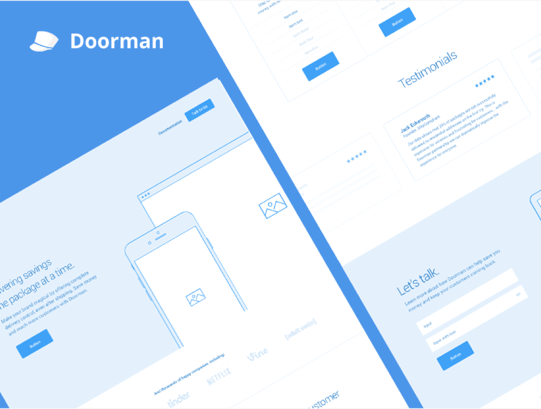 Doorman Website Wireframes